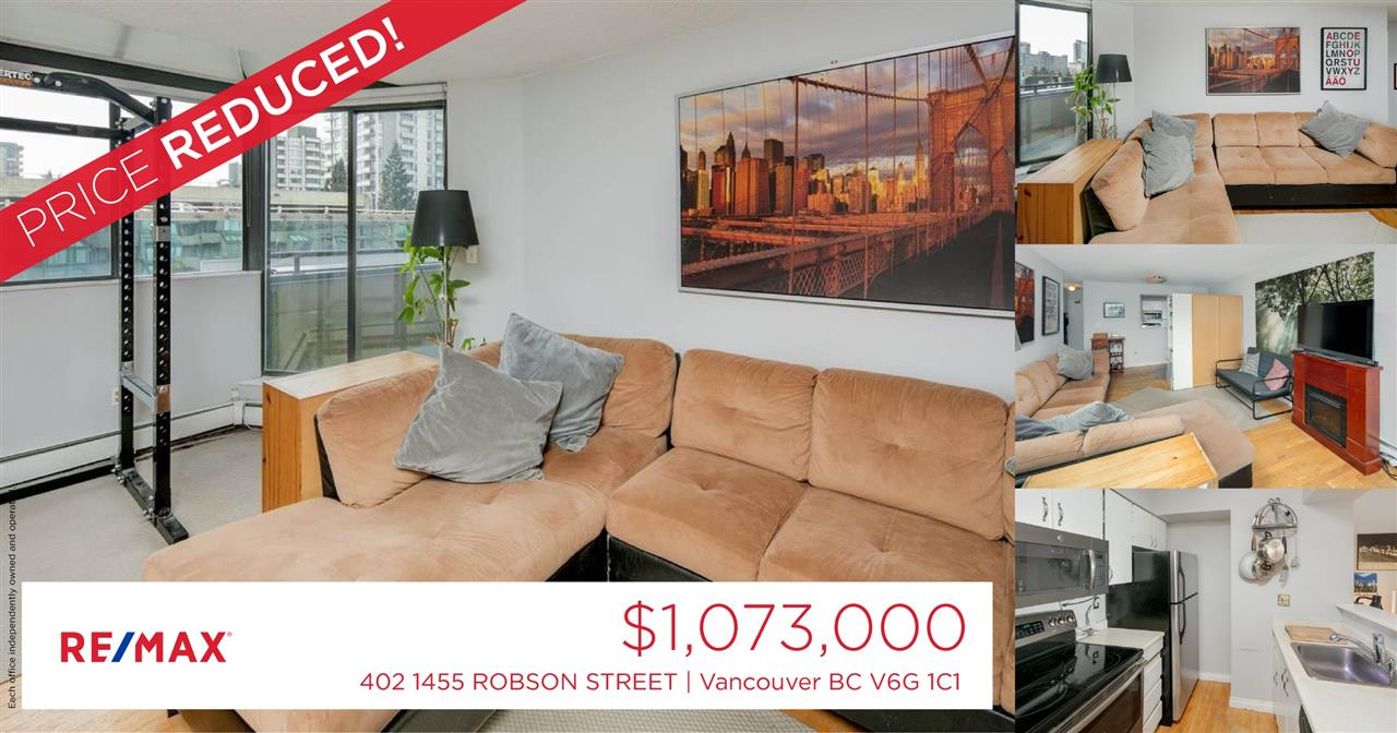 #402 - 1455 ROBSON   STREET, Vancouver R2256915