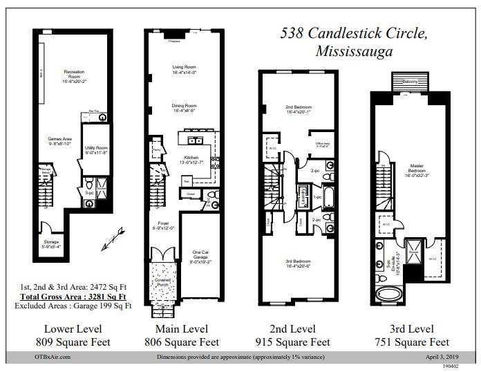538 Candlestick Circ, Mississauga W4407841