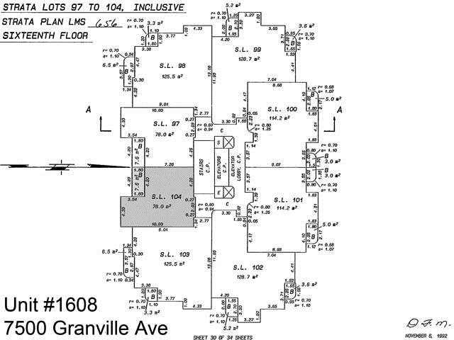 #1608 - 7500 GRANVILLE Avenue, Richmond R2415920
