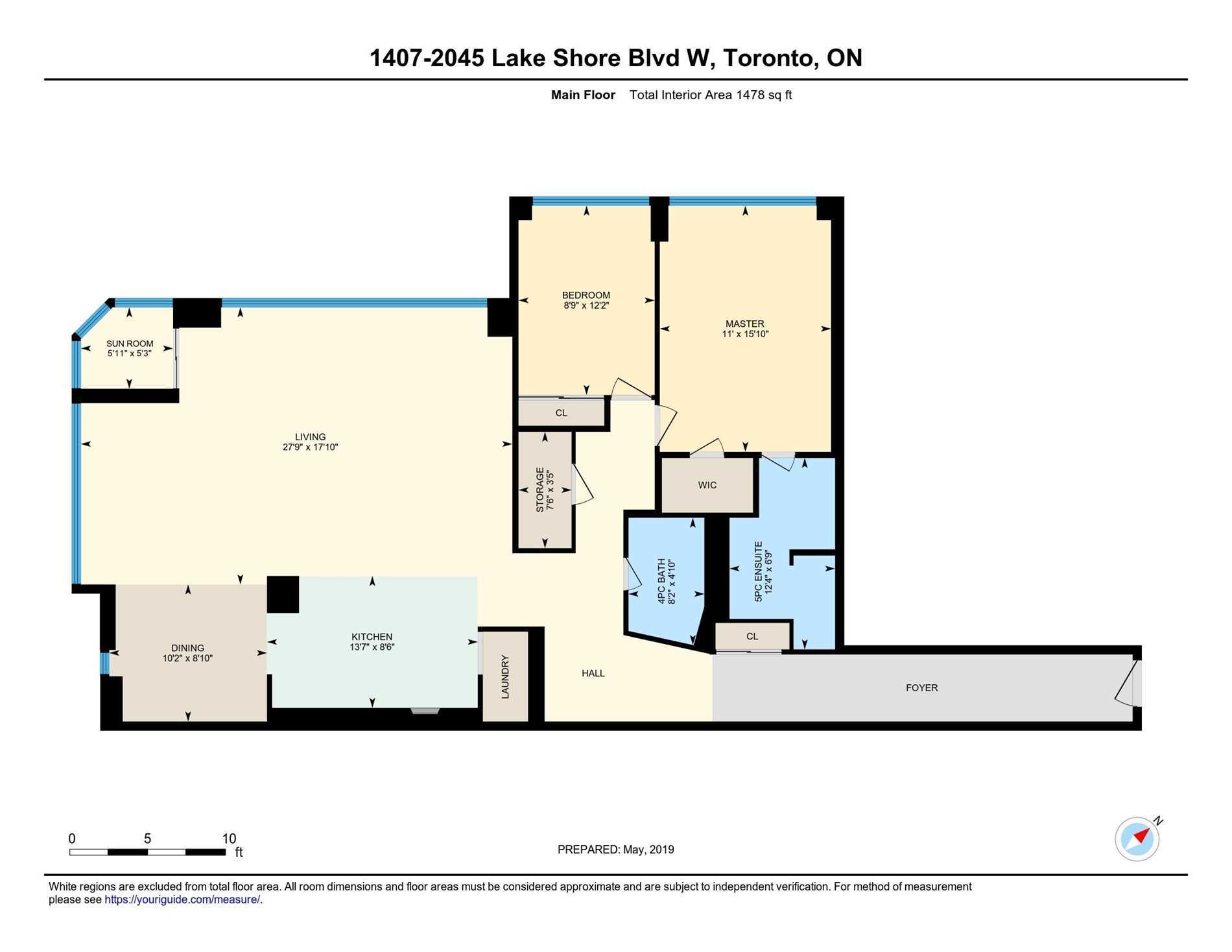 #1407 - 2045 Lake Shore Blvd W, Toronto W4450290