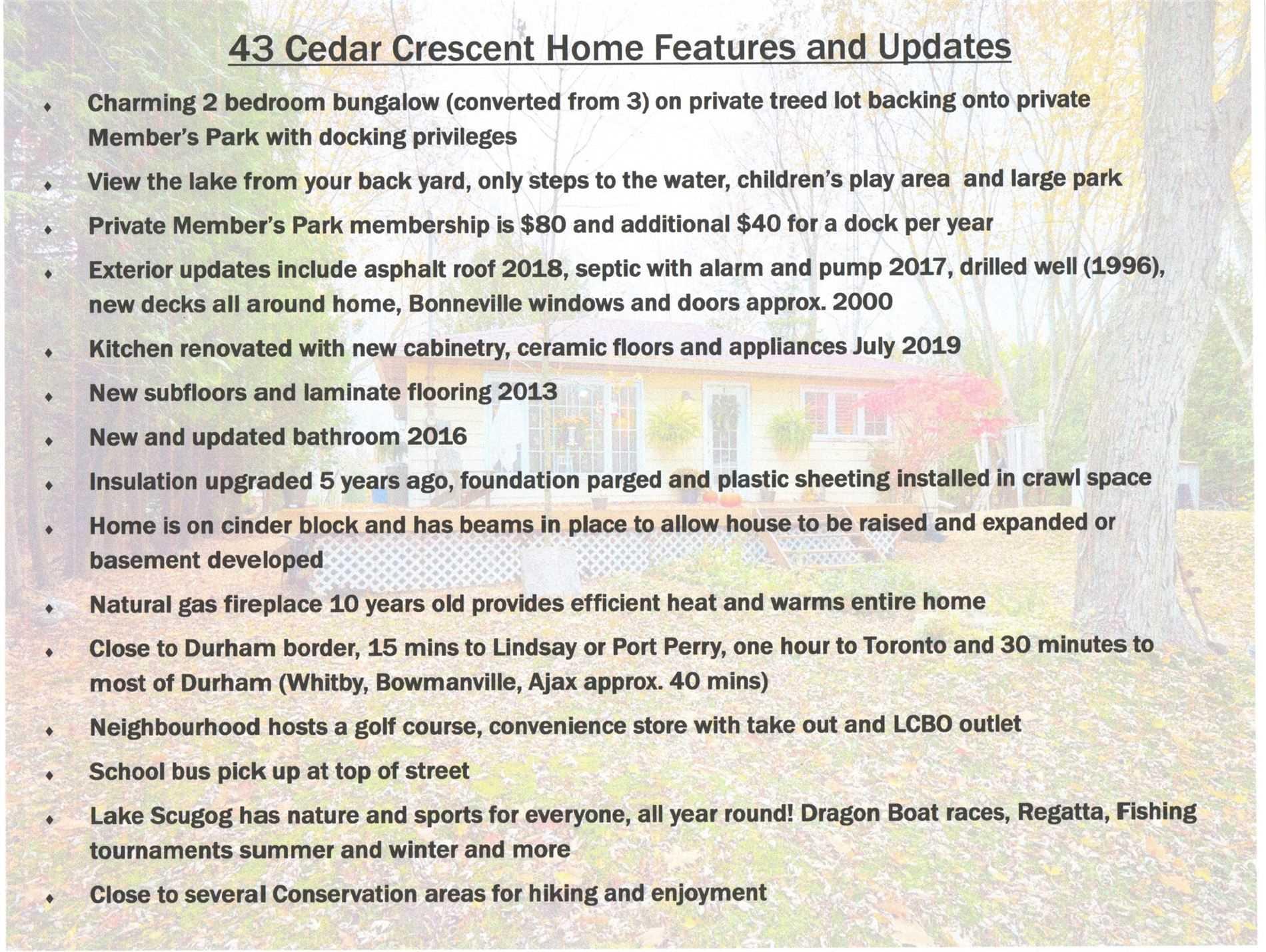 43 Cedar Cres, Kawartha Lakes X4645130